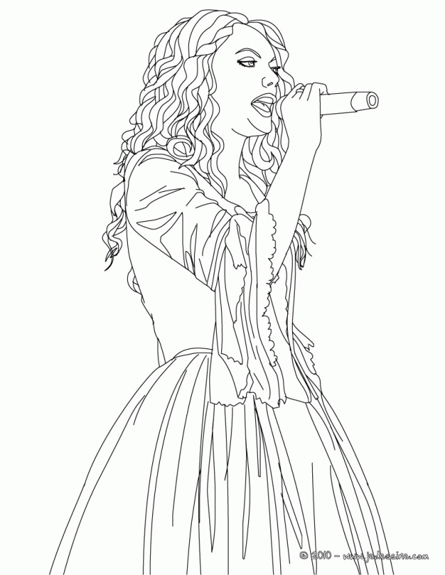 taylor swift coloring pages - taylor swift printable coloring pages