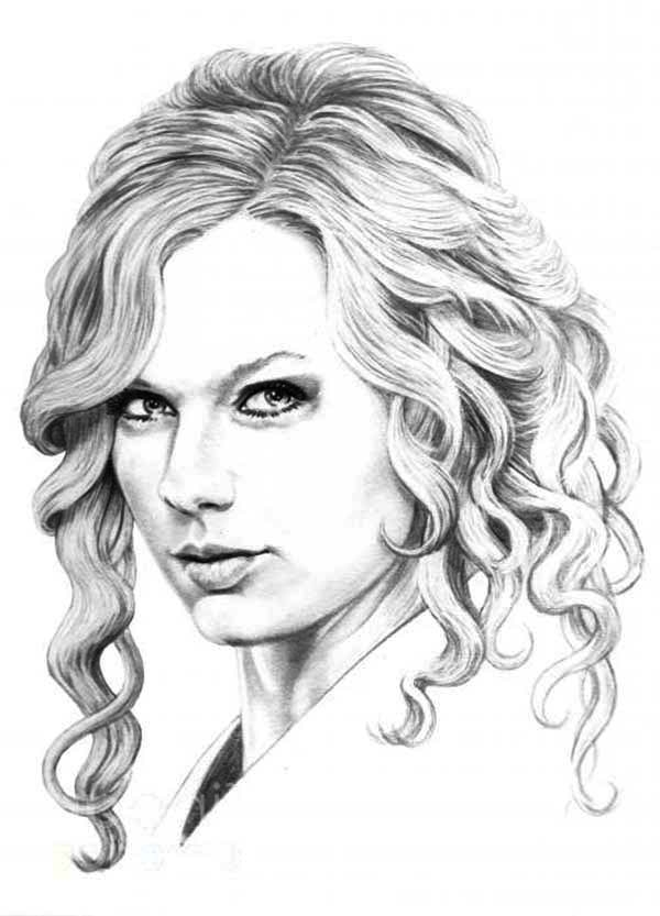 taylor swift coloring pages - r=taylor swift red