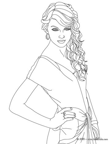 taylor swift coloring pages - taylor swift singer
