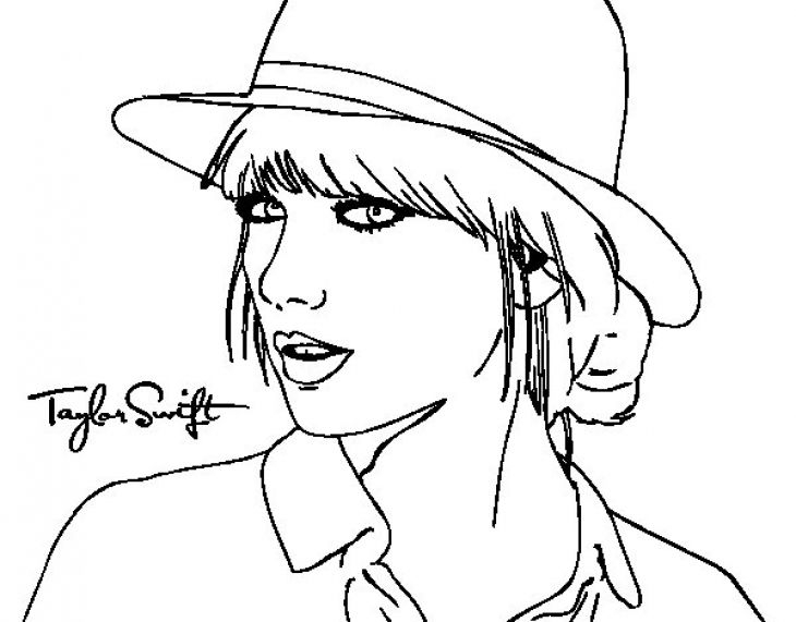 taylor swift coloring pages -