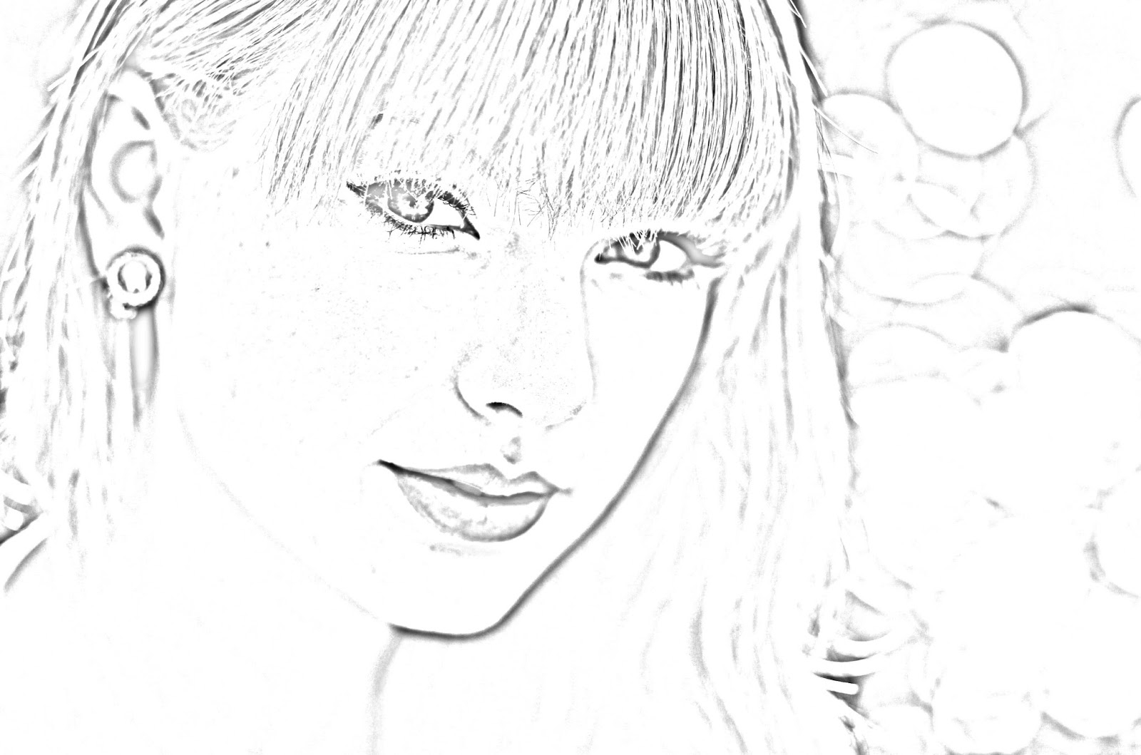 taylor swift coloring pages - taylorswift