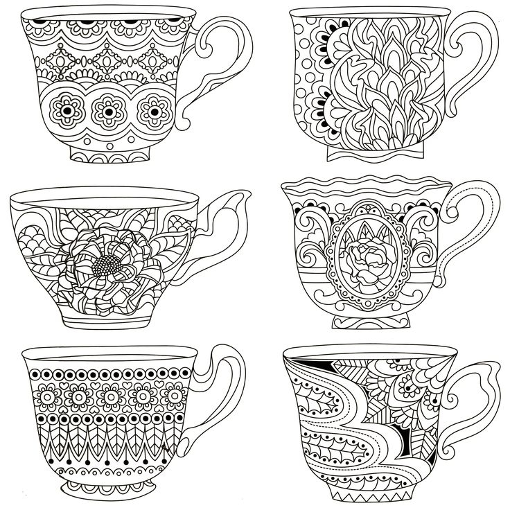 tea cup coloring page - coloring pages