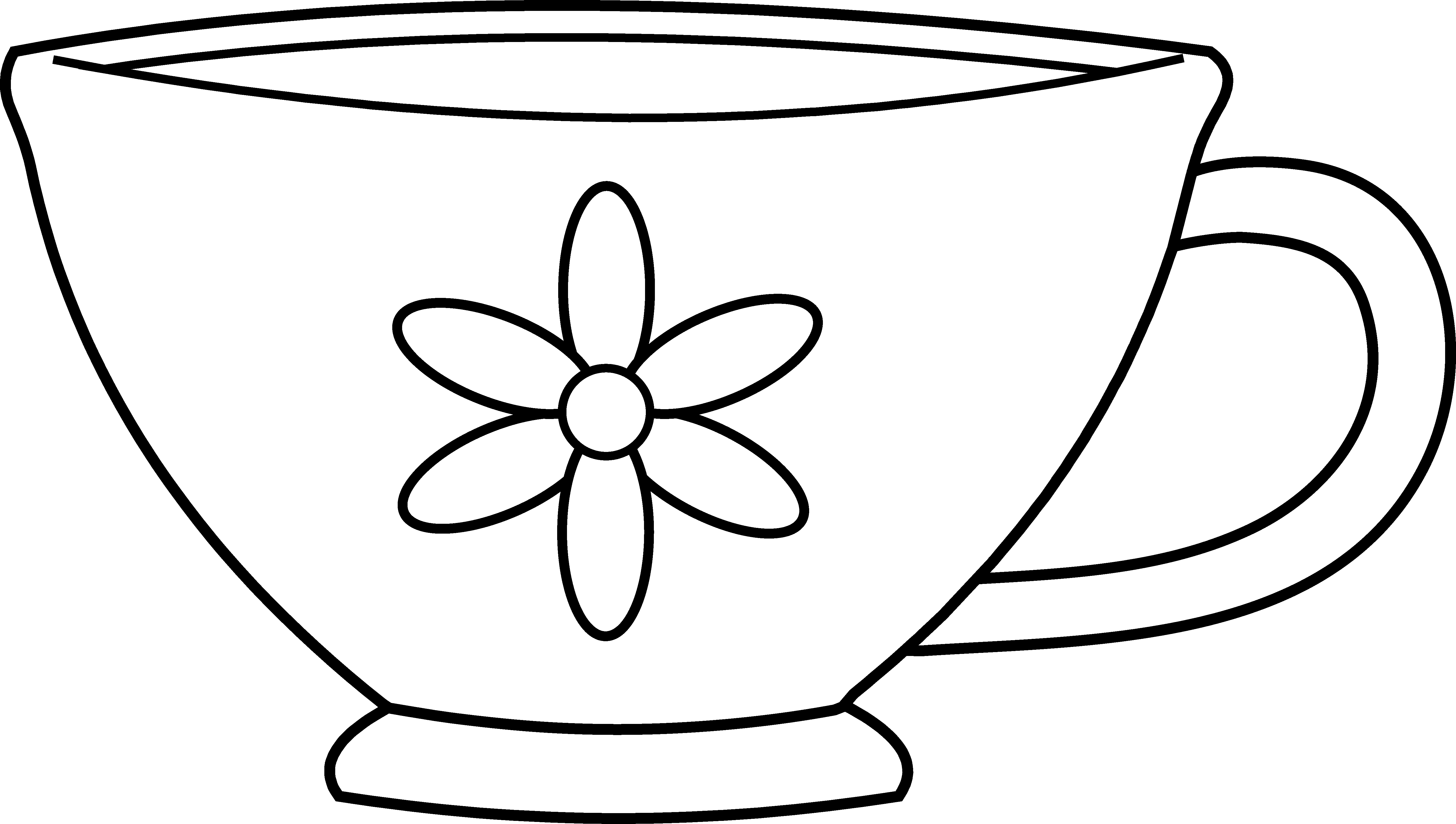 tea cup coloring page - cute teacup coloring page 1602
