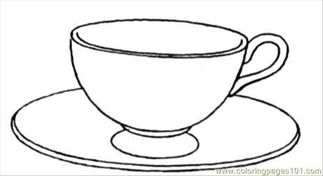 Tea Cup Coloring Page - Free Teacup and Saucer Coloring Pages