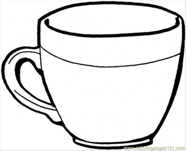 tea cup coloring page - Teacup