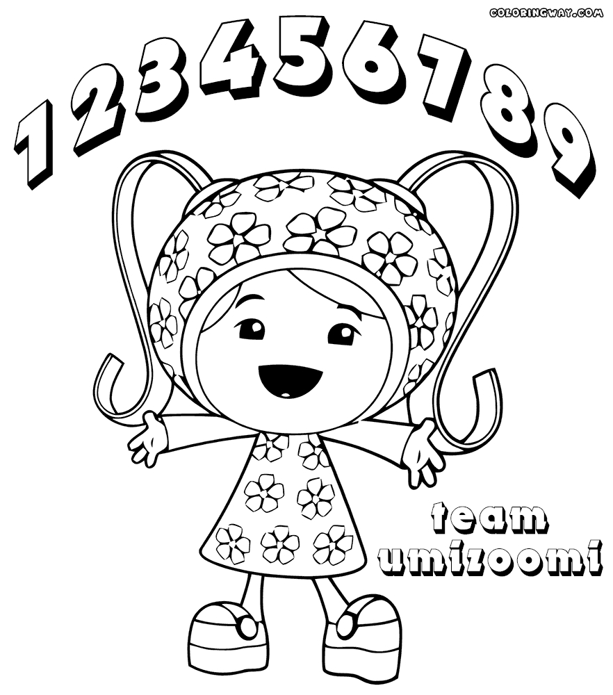 team umizoomi coloring pages - coloring page team umizoomi milli sketch templates