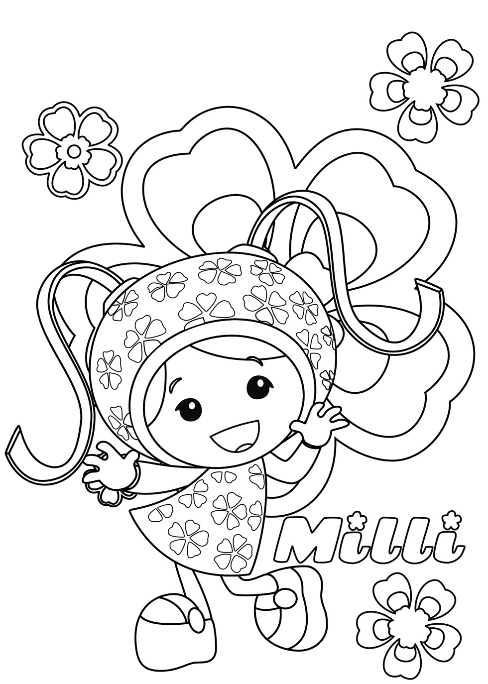 Team Umizoomi Coloring Pages - Free Printable Team Umizoomi Coloring Pages for Kids