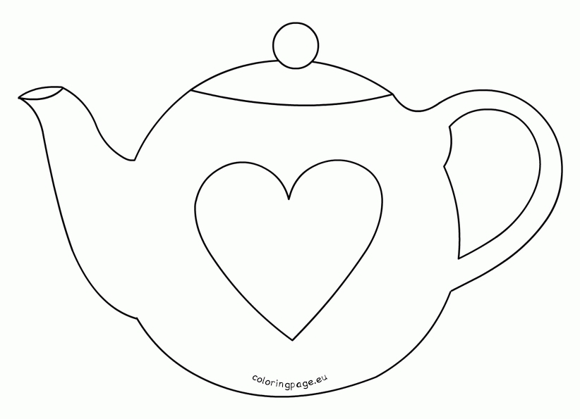 teapot coloring page - printable teapot coloring pages
