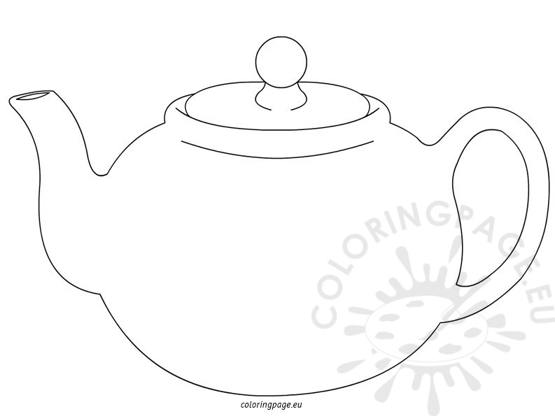 teapot coloring page - teapot coloring pages for kids