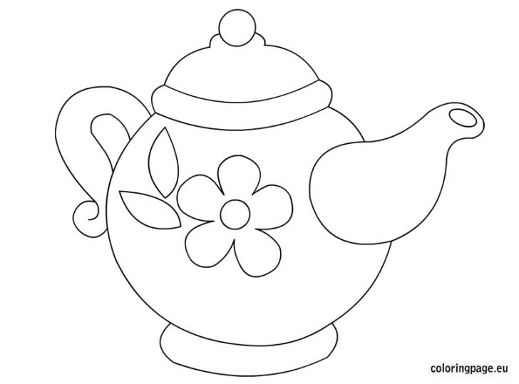 teapot coloring page - teapot printable coloring pages kids coloring pages