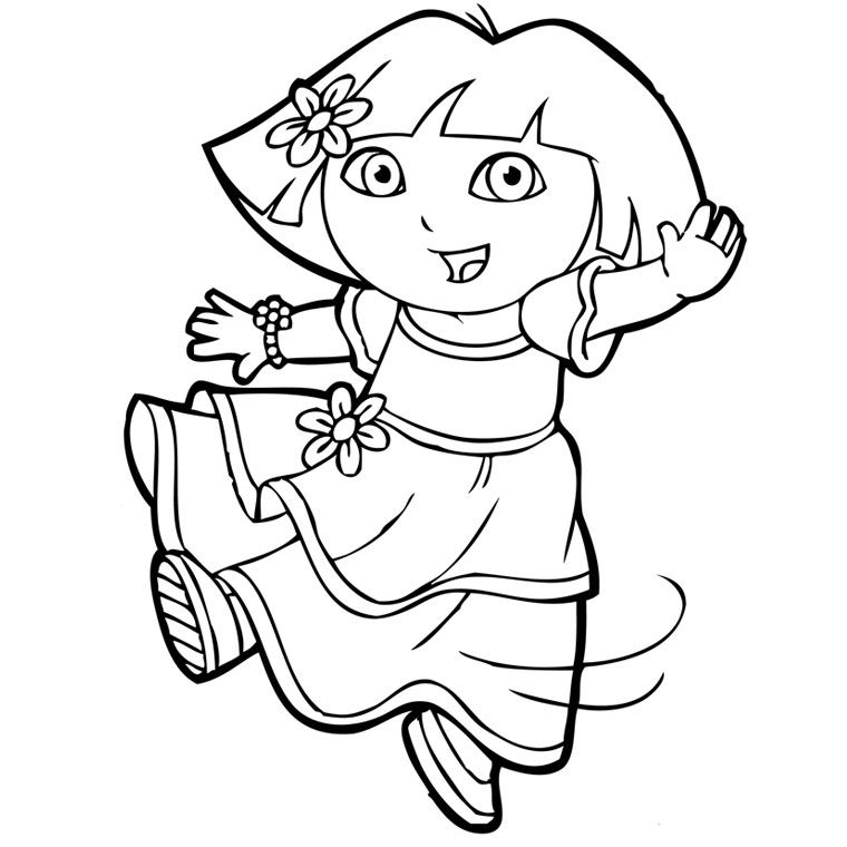teddy bear coloring pages - dora en princesse