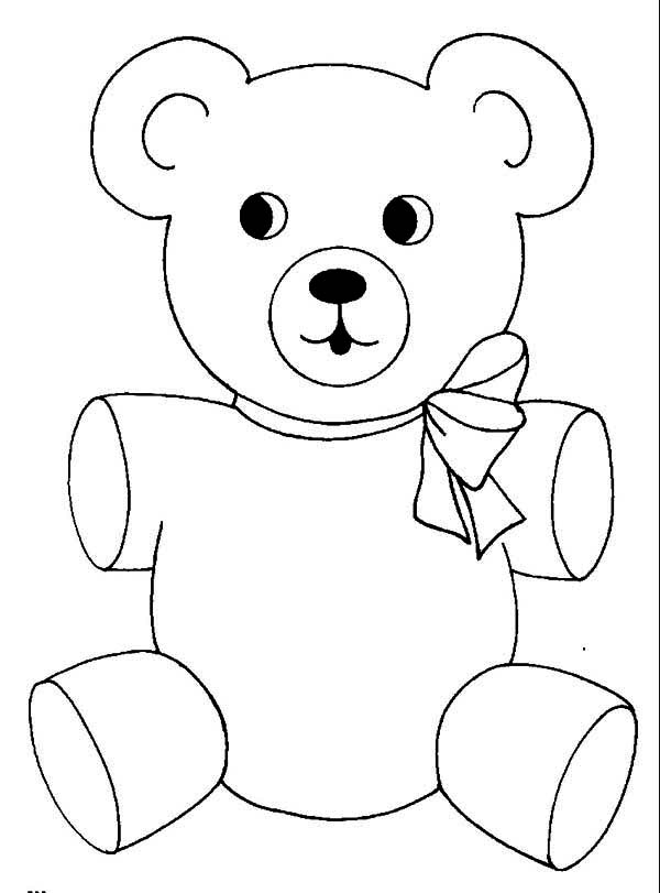 teddy bear coloring pages - cute teddy bear coloring page
