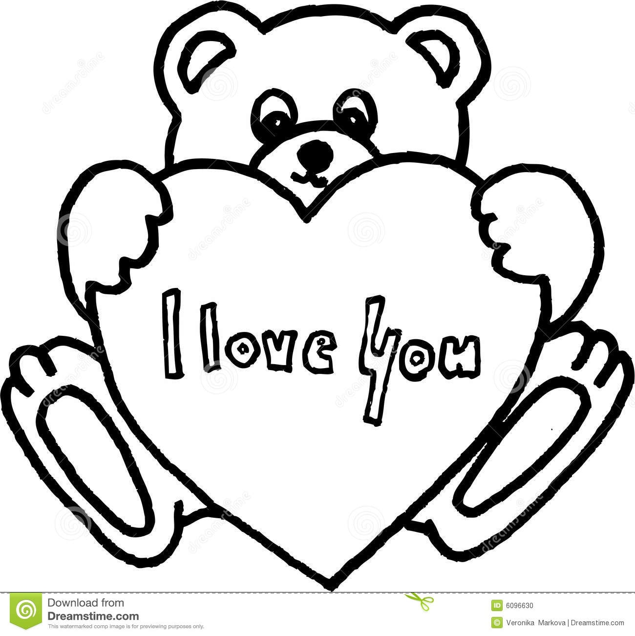 teddy bear coloring pages - teddy bear with heart coloring pages