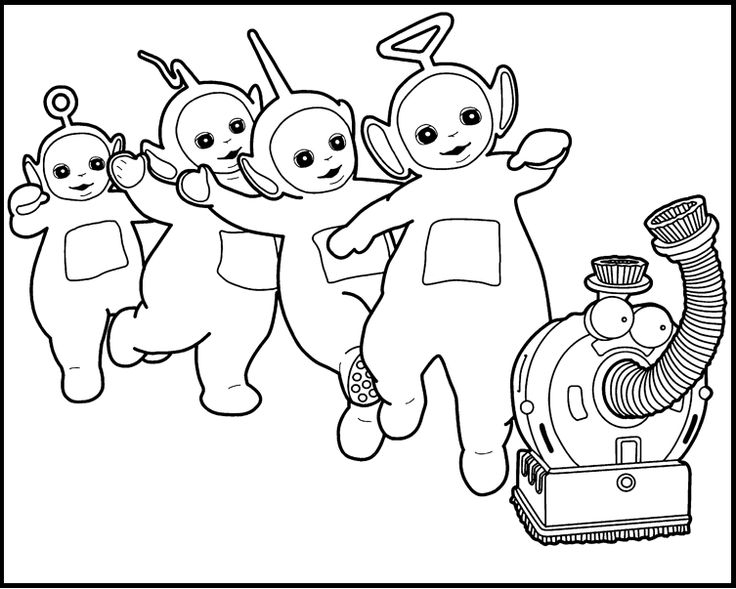 teletubbies coloring pages -