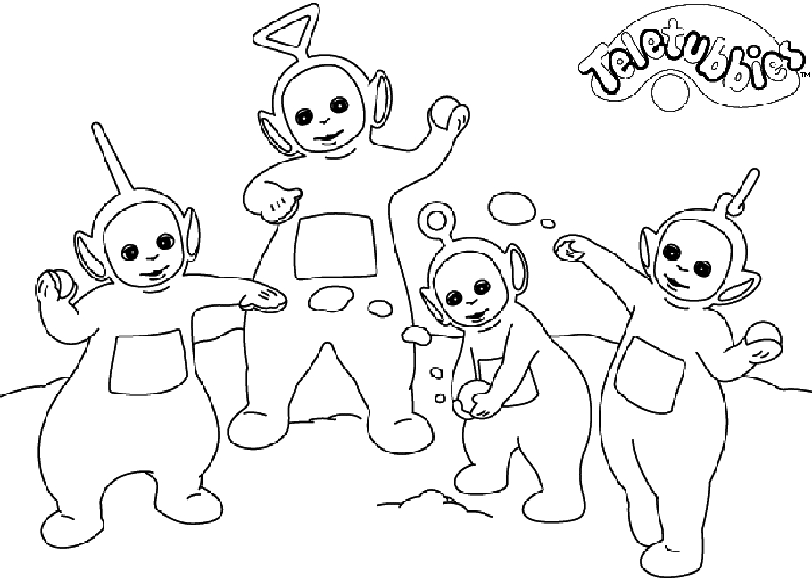 teletubbies coloring pages - teletubbies coloring pages 16