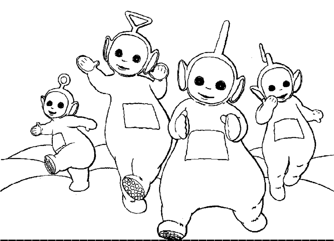 teletubbies coloring pages - teletubbies coloring pages