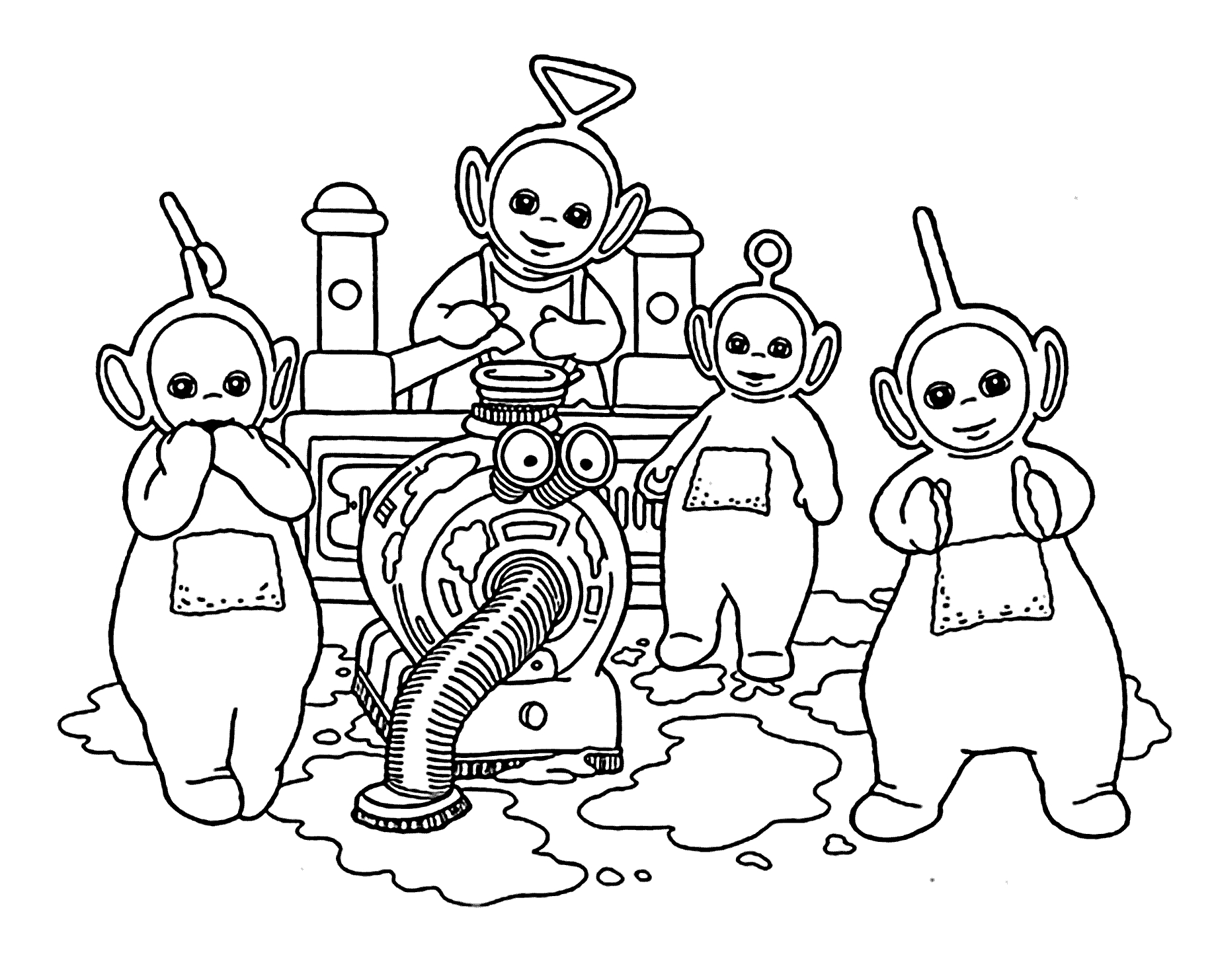 24 Teletubbies Coloring Pages Collections | FREE COLORING PAGES - Part 3