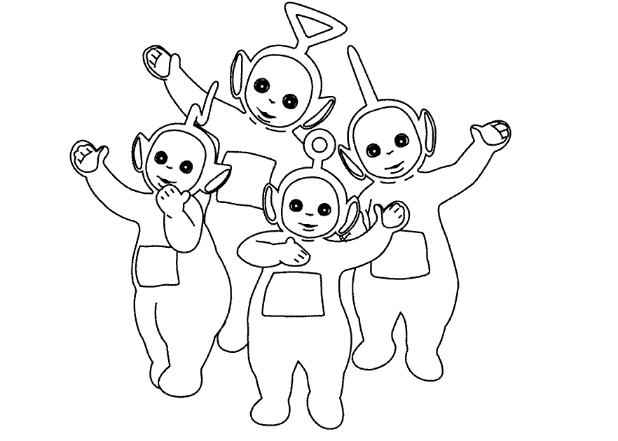 teletubbies coloring pages - teletubbies