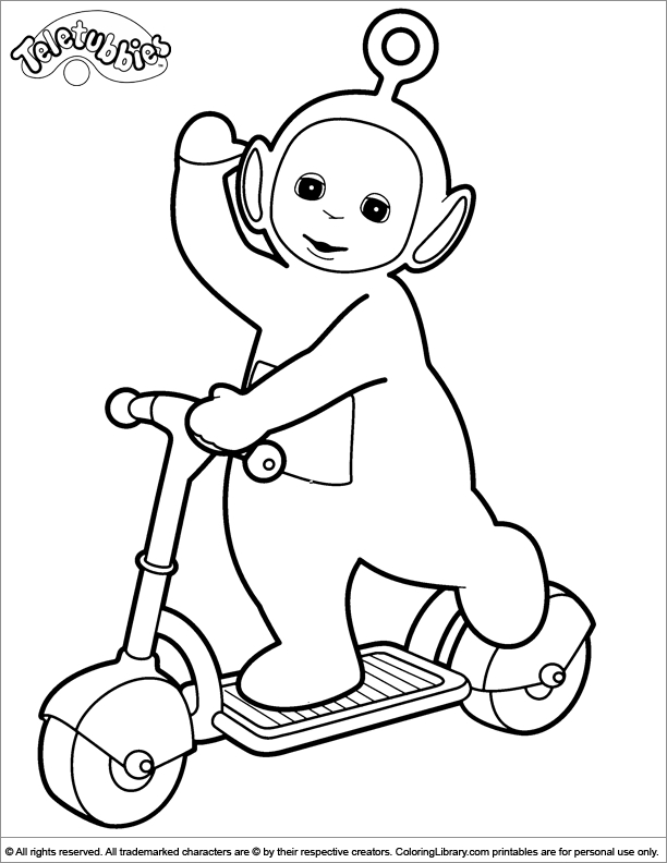Teletubbies Coloring Pages - Teletubby Coloring Pages Coloring Home