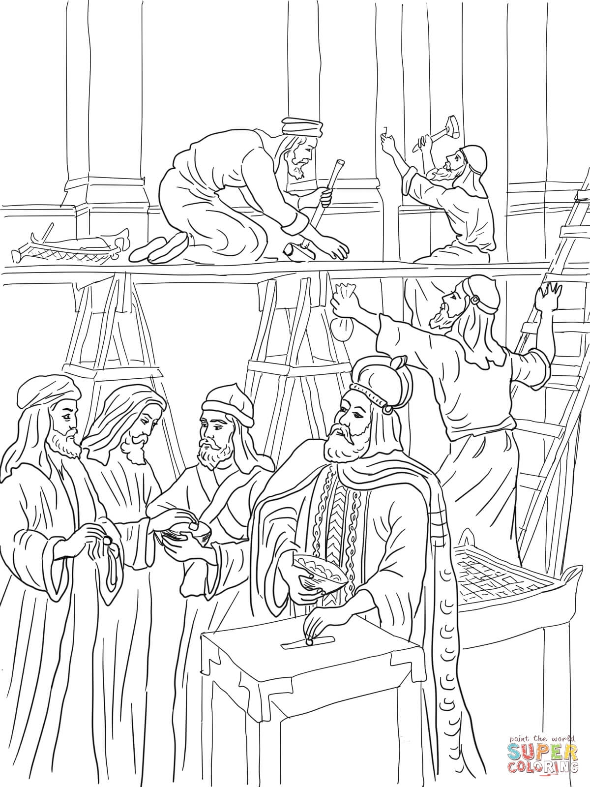 Temple Coloring Page - Building the Temple Coloring Pages Coloring Pages