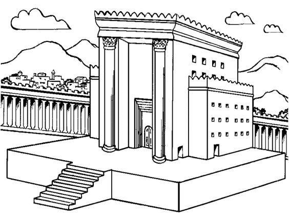 temple coloring page -