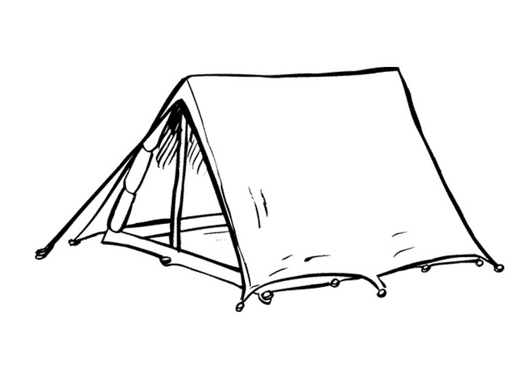 tent coloring page - q=tents