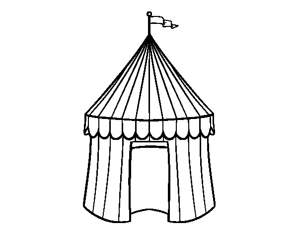 Tent Coloring Page - Free Coloring Pages Of Tents
