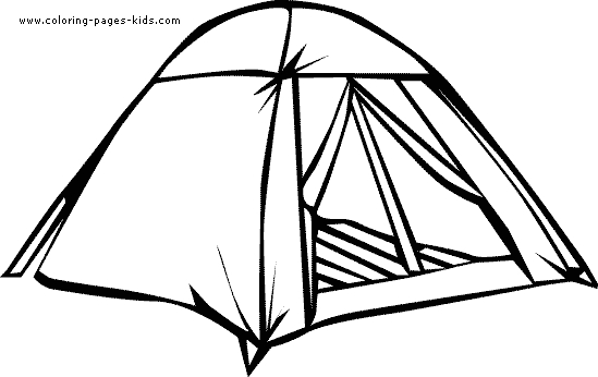 tent coloring page -