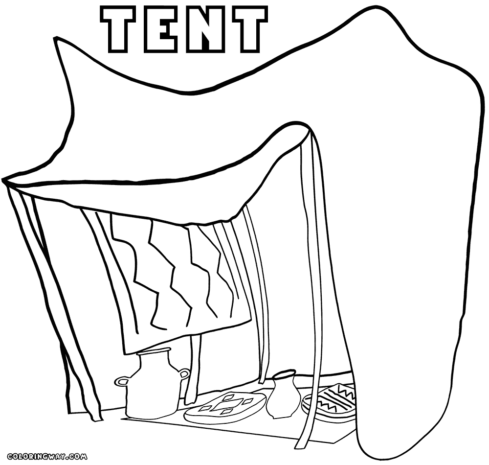 tent coloring page - tent coloring pages