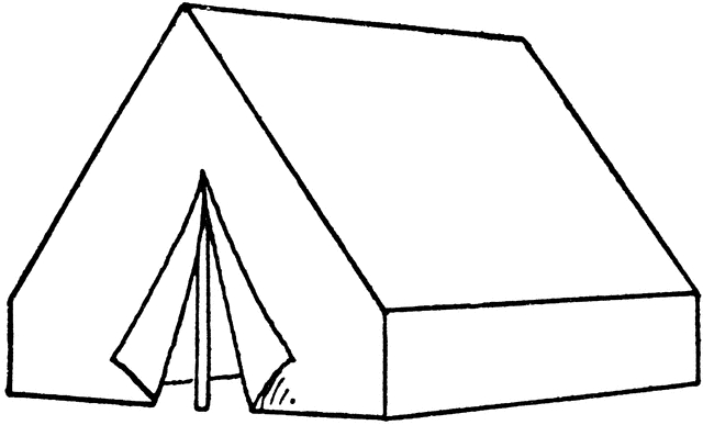 tent coloring page - tent coloring pages 15
