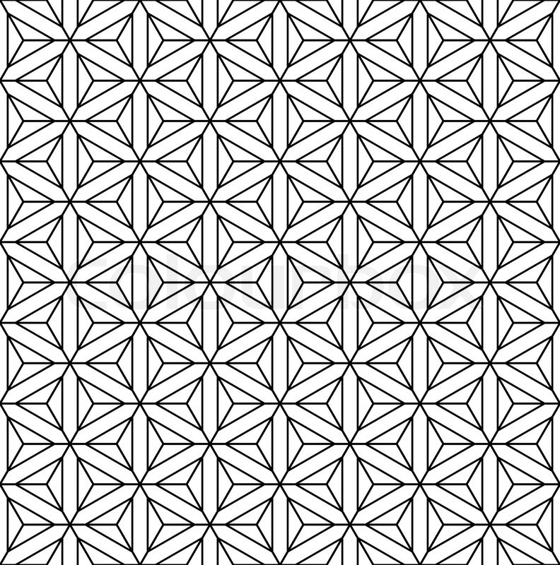 tessellation coloring pages - seamless geometric op art texture vector