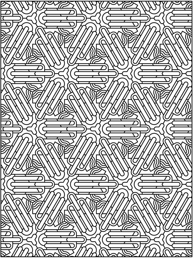 tessellation coloring pages - techellations 12