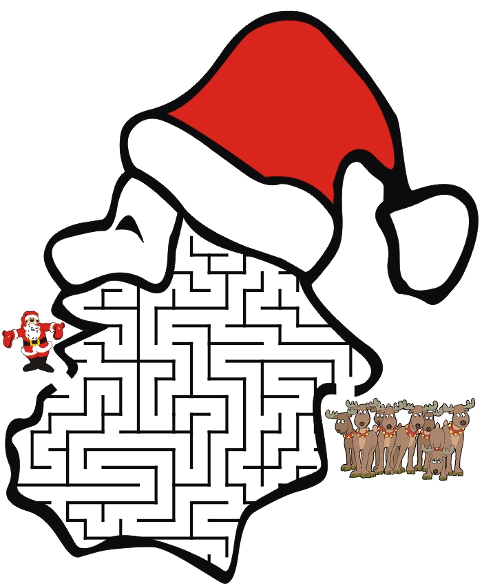 texas coloring pages - father christmas colouring pictures