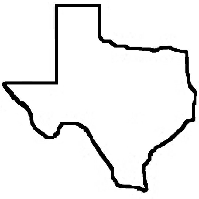 texas coloring pages - outline map of texas