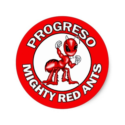 texas coloring pages - progreso mighty red ants stickers