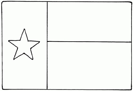 texas flag coloring page - texas flag coloring page