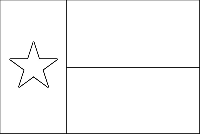 texas flag coloring page - texas flag