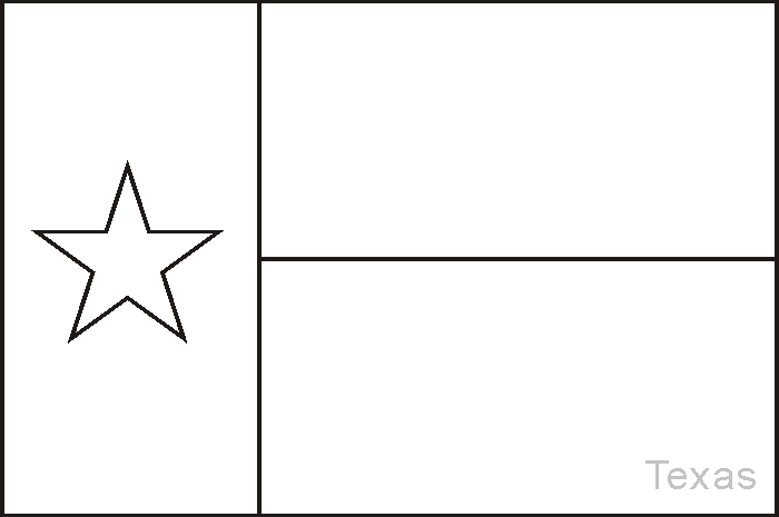 texas flag coloring page - texas flag coloring