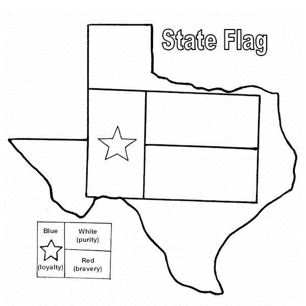 texas flag coloring page - color5