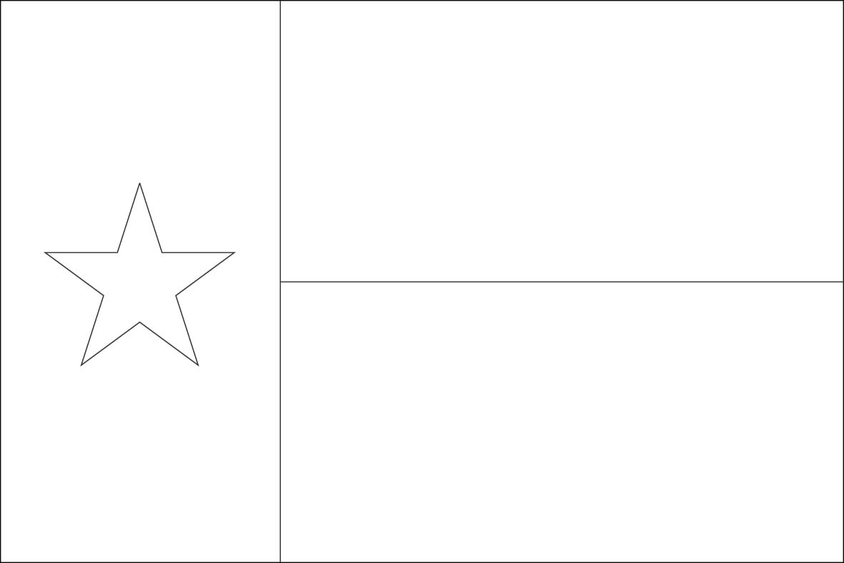 texas flag coloring page - world flags coloring pages6