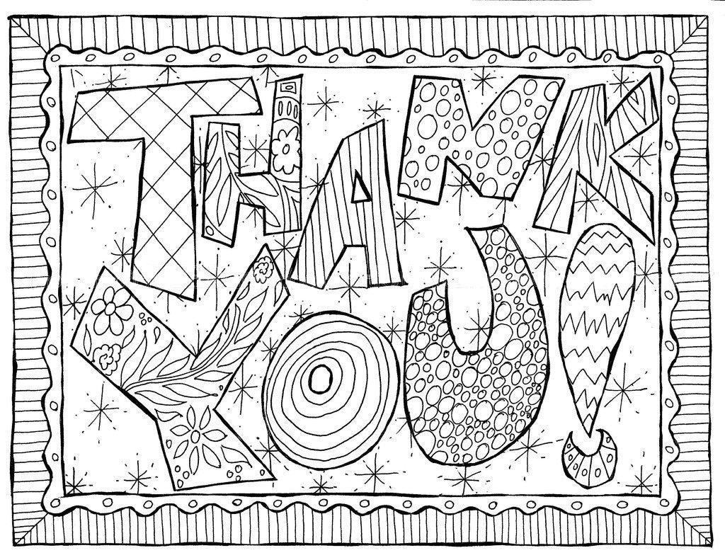 thank you coloring pages -