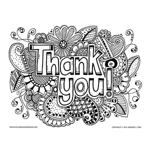 Thank You Coloring Pages Photo Album - Sabadaphnecottage
