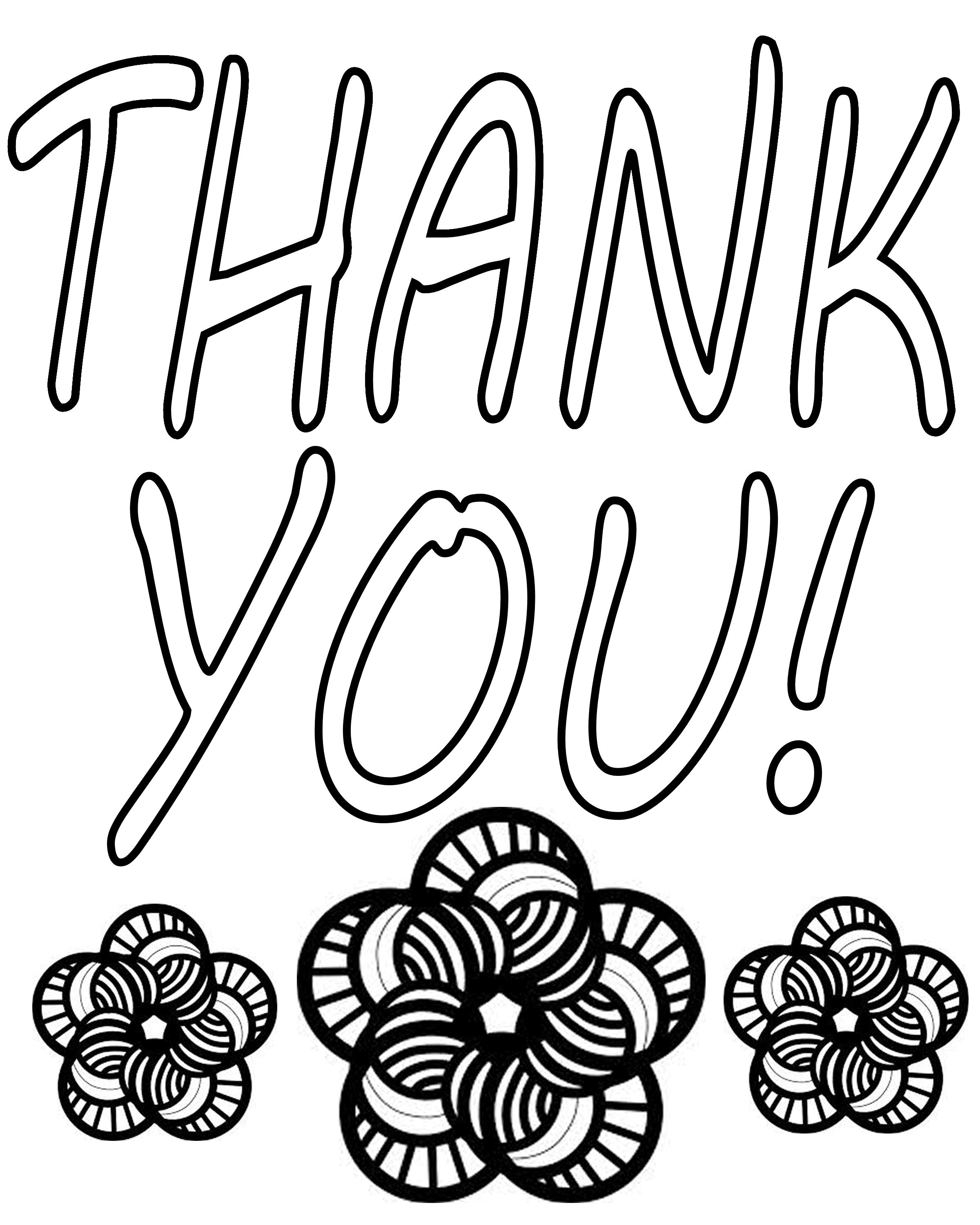 thank you coloring pages - 5546