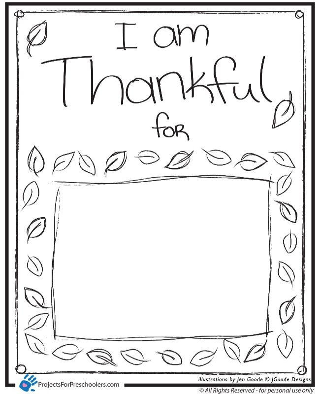 thankful coloring pages - i am thankful for