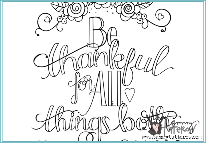 thankful coloring pages - free coloring page be thankful for all things