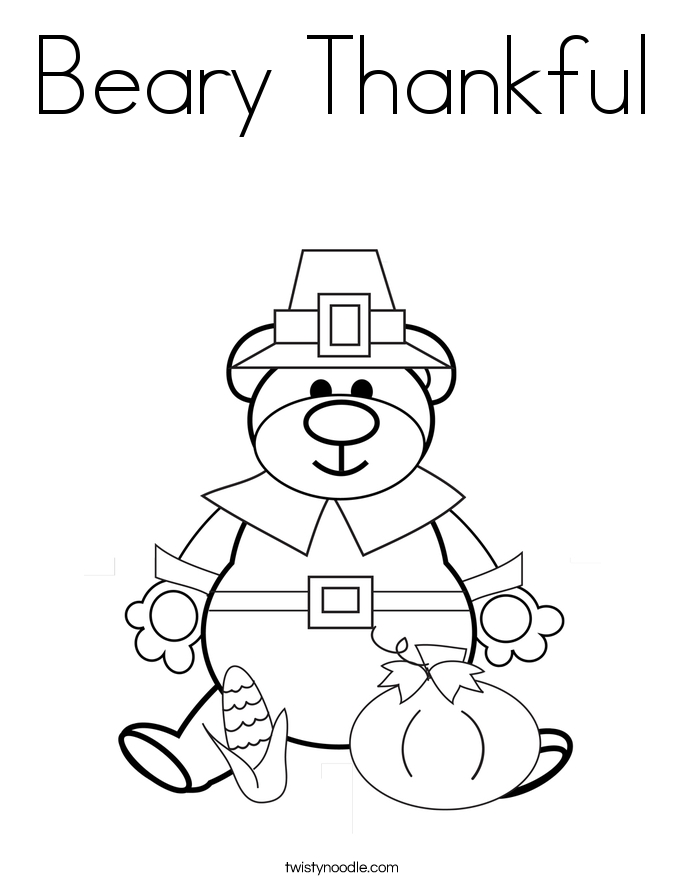 thankful coloring pages - thankfulness