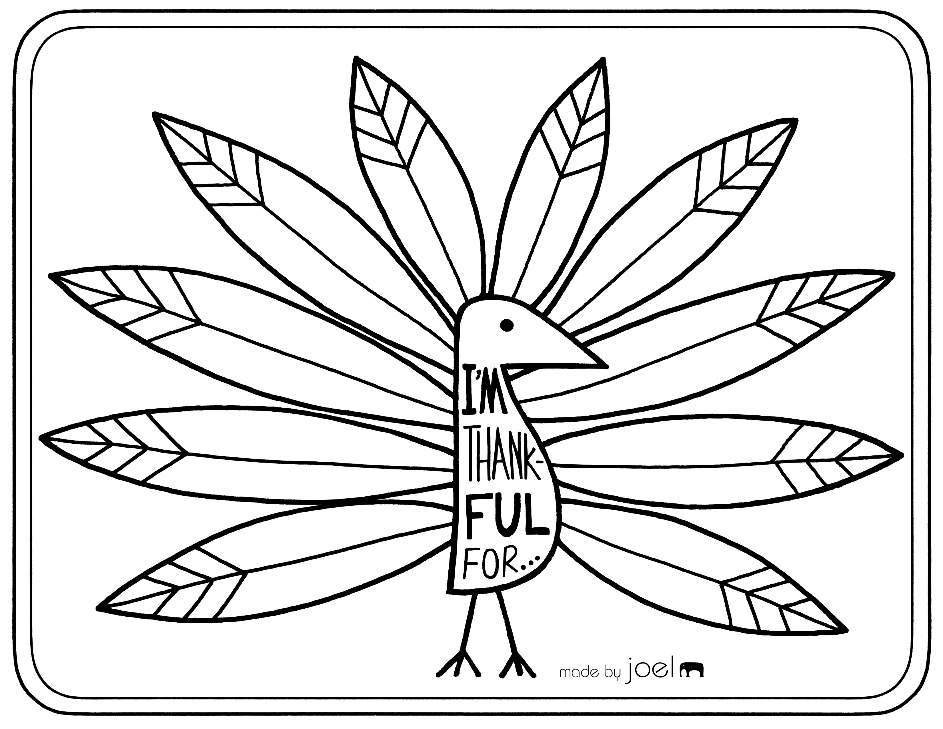 thankful coloring pages - things i am thankful coloring page