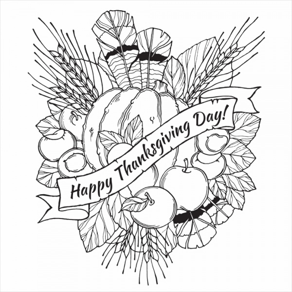 thanksgiving coloring pages for adults - free thanksgiving coloring page