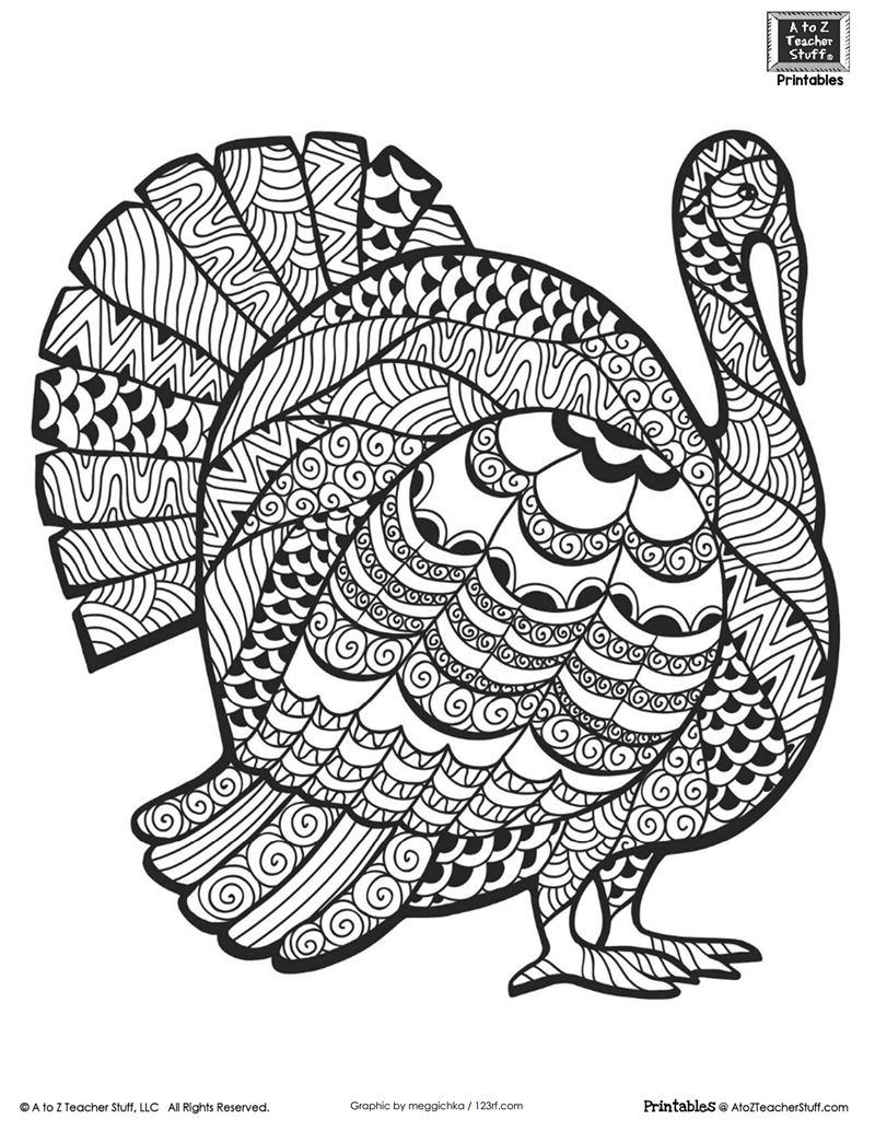 thanksgiving coloring pages for adults -