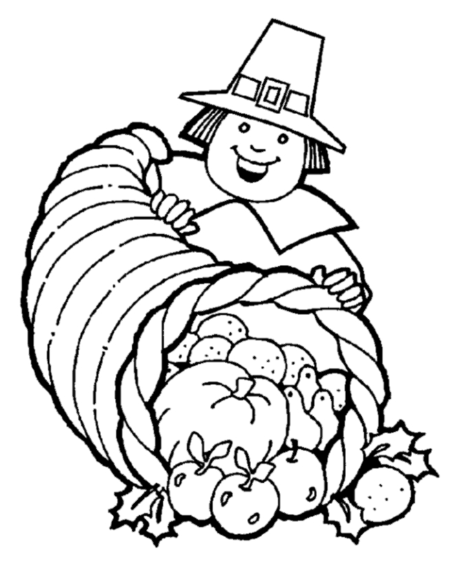 thanksgiving coloring pages free - thanksgiving cornucopia coloring pages